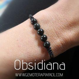 pulsera obsidiana negra gemoterapia facil