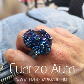 anillo cuarzo aura gemoterapia facil