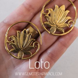 pendientes flor de loto gemoterapia facil