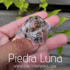 pirámide orgonite piedra luna gemoterapia facil