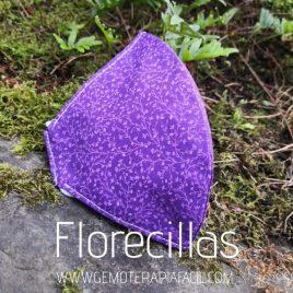 mascarilla reutilizable florecillas