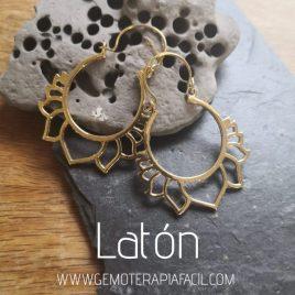 pendientes de flor de loto de latón gemoterapia facil