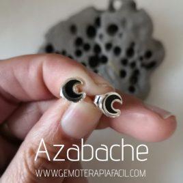 pendientes luna de azabache asturiano gemoterapia facil