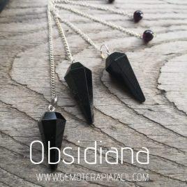 péndulo de obsidiana gemoterapia facil