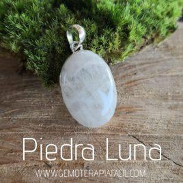 colgante piedra luna plata de ley gemoterapia facil
