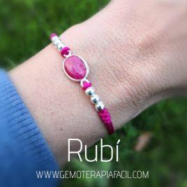 pulsera de rubi gemoterapia facil