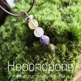 colgante Hoponopono piedras gemoterapia facil