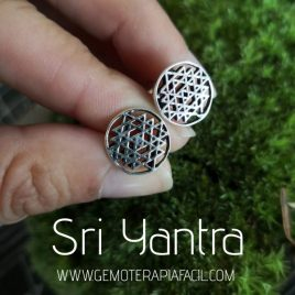pendientes Sri yantra gemoterapiafacil