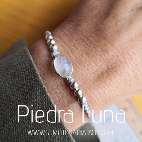 pulsera piedra luna adaptable
