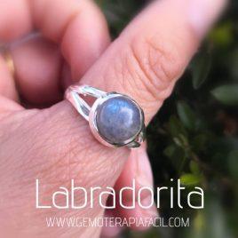 anillo de labradorita azul plata de ley gemoterapia facil 1