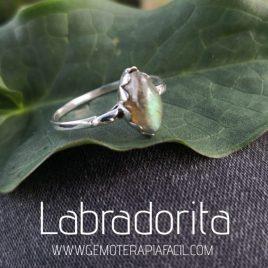 anillo de labradorita plata de ley gemoterapia facil