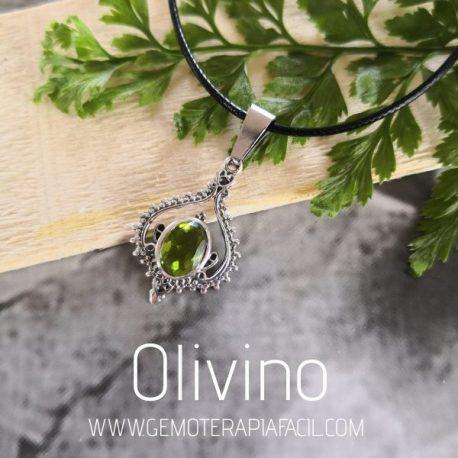 colgante olivino plata de ley gemoterapia facil