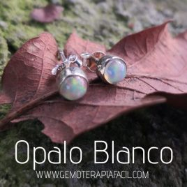 pendiente opalo blanco gemoterapia facil