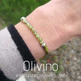 pulsera de olivino peridoto gemoterapia