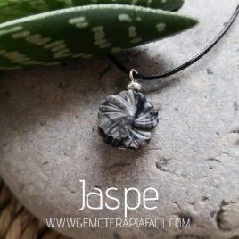 colgante y flor de jaspe gemoterapia facil