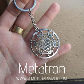 cubo Metatron llavero gemoterapia facil