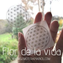 pegatina Flor de la Vida transparente gemoterapia facil