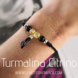pulsera turmalina negra citrino y mano azabache gemoterapia facil