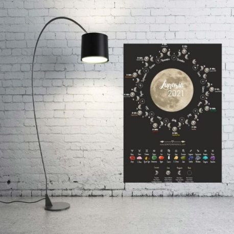Lunario 2021 - calendario astrológico - piedras para horoscopo