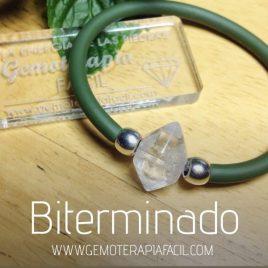 pulsera cuarzo biterminado transparente gemoterapia facil