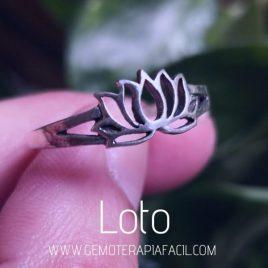 anillo flor de loto plata de ley gemoterapia facil