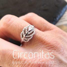 anillo hojas circonita gemoterapia facil