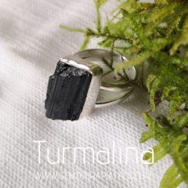 anillo turmalina negra plata de ley gemoterapia facil