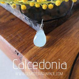 colgante Calcedonia lágrima azul agua como terapia fácil