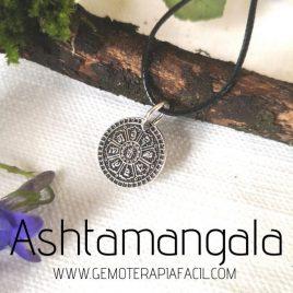 colgante ashtamangala plata de ley gemoterapia facil