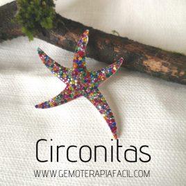 colgante estrella circonitas de colores gemoterapia facil