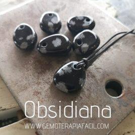 colgante obsidiana copo de nieve gemoterapia facil