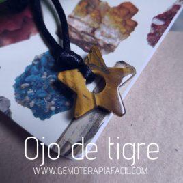 colgante ojo de tigre estrella gemoterapia facil