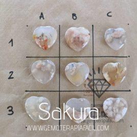 corazón ágata flor Sakura gemoterapia facil