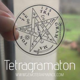 tetragrámaton pegatina transparente gemoterapia facil