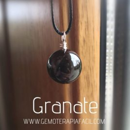 colgante granate natural gemoterapia facil