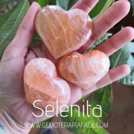 corazones de selenita melocotón gemoterapia facil