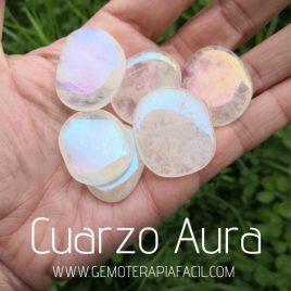 cuarzo aura rodado plano gemoterapia facil