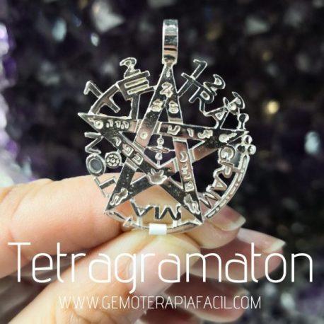 tetragrámaton plata de ley colgante gemoterapia facil