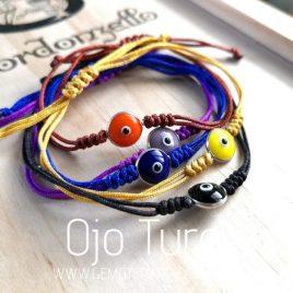 pulsera ojo turco de colores gemoterapia facil