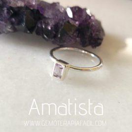 anillo de amatista cuadrado gemoterapia facil