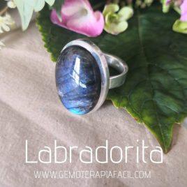 anillo labradorita azul plata de ley gemoterapia facil