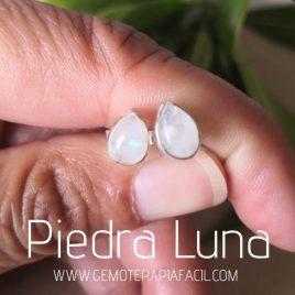 pendientes de piedra luna plata de ley gemoterapia facil