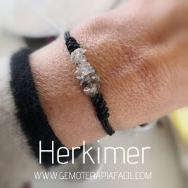 pulsera Herkimer cuarzo diamante gemoterapia facil