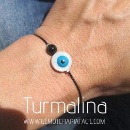 pulsera turmalina negra ojo de turco gemoterapia facil