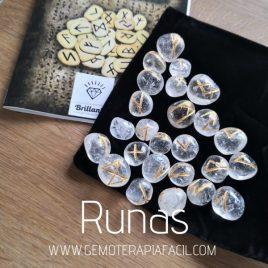 runas de cuarzo transparente gemoterapia facil