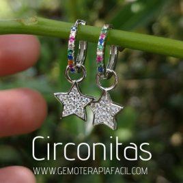 pendientes circonitas estrellas plata de ley gemoterapia facil