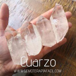 puntas de cuarzo blanco transparente gemoterapia facil