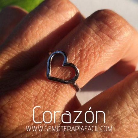 anillo corazón gemoterapia facil s