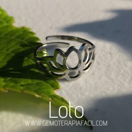anillo flor de loto gemoterapia facil