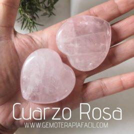 corazones de cuarzo rosa natural gemoterapia facil